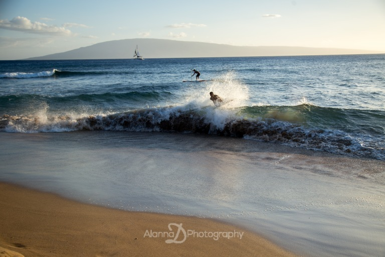 Sunset Surfers at Kaanapali Beach