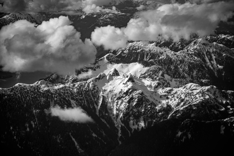 Rocky Mountains from the Air - Alanna D Photography